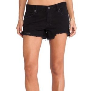 Free People Shorts - ♡ FREE PEOPLE BLACK JEAN SHORTS ♡